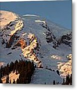 Mount Rainier Alpenglow Metal Print