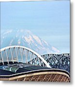 Mount Rainier Backdrop Metal Print
