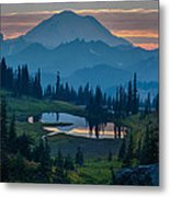 Mount Rainier Layers Metal Print