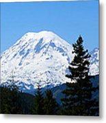 Mount Rainier Panorama Metal Print