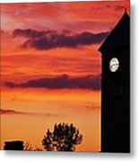 8.15 On The Mount Royal Clock Tower Baltimore Metal Print