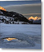 Mount Rundle And Vermillion Lakes Metal Print
