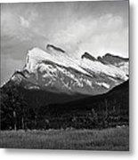 Mount Rundle At Banff National Park Metal Print