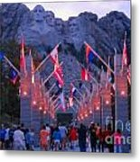 Mount Rushmore At Night Metal Print