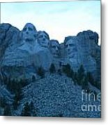 Mount Rushmore Blues Metal Print