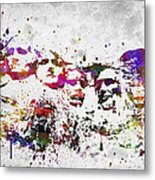 Mount Rushmore National Memorial In Color Metal Print