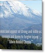 Mount Saint Helen's Text Metal Print