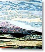 Mount Shasta California Metal Print by David Skrypnyk