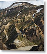 Mount Skalli From Mount Blahnukur Metal Print