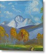 Mount Sneffels San Juan Mountains Colorado Metal Print by Patricia Kimsey Bollinger