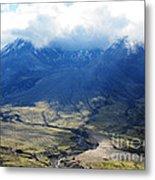 Mount St. Helen's Cloud Kissed Metal Print