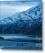 Mount Timpanogos Winter Evening Metal Print
