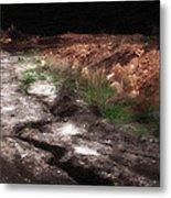 Mount Trashmore - Series Iv - Painted Photograph Metal Print