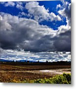 Mount Vernon Farmland - Washington State Metal Print