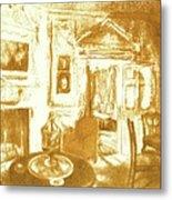 Mount Vernon In Golden Light Metal Print