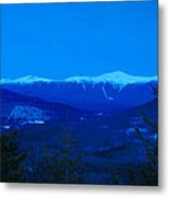 Mount Washington And The Presidential Range At Twilight From Mount Sugarloaf Metal Print