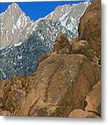 Mount Whitney, Lone Pine, California Metal Print