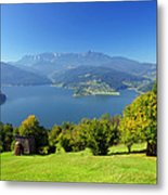 Mountain And Lake  Metal Print