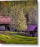 Mountain Barns In North Carolina Metal Print