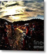 Mountain Biking Ladies Metal Print by Scott Allison