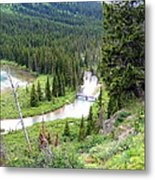 Mountain Bridge Metal Print