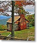 Mountain Cabin 1 Metal Print