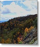 Mountain Colors Metal Print by Judy  Waller
