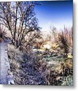 Mountain Creek Path-sundance Utah Metal Print