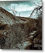 Mountain Creek Path-sundance Utah V3 Metal Print