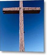 Mountain Cross Metal Print