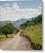 Mountain Dirt Road In Northern Crete Metal Print