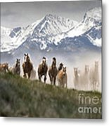 Mountain Dust Storm Metal Print