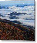 Mountain Fog - Blue Ridge Parkway Metal Print