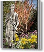 Mountain Gardener Metal Print