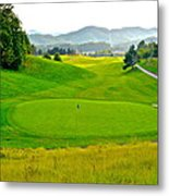 Mountain Golf Metal Print by Frozen in Time Fine Art Photography