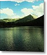 Mountain Lake Metal Print by Christian Rooney