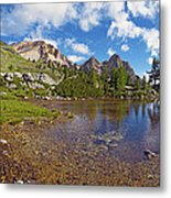 Mountain Lake In The Dolomites Metal Print