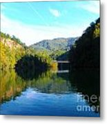 Mountain Lake Reflections Metal Print by Lorraine Heath