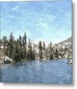 Mountain Lake Retreat Metal Print