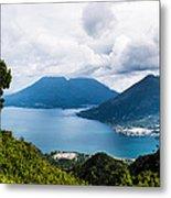 Mountain Lakes In Guatemala Metal Print