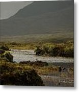 Mountain Meet Water Metal Print