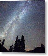 Mountain Milky Way Stary Night View Metal Print