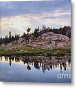 Mountain Mirror View Metal Print