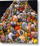 Mountain Of Gourds And Pumpkins Metal Print