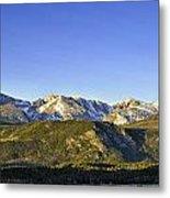 Mountain Panorama Metal Print by Tom Wilbert