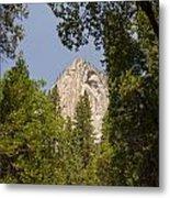 Mountain Peak In Yosemite National Park Metal Print