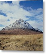 Mountain peak with clouds Metal Print