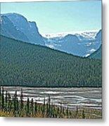 Mountain Peaks From Icefields Parkway-alberta Metal Print