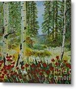 Mountain Poppies Metal Print