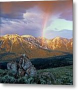Mountain Rainbow Metal Print